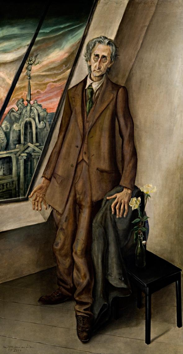 Otto Dix Der Dichter Iwar von Lücken, 1926