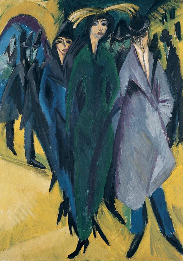 Ernst Ludwig Kirchner Frauen auf der Straße, 1915